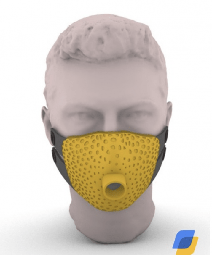 Maschera in TPU dell'azienda ELMEC 3D