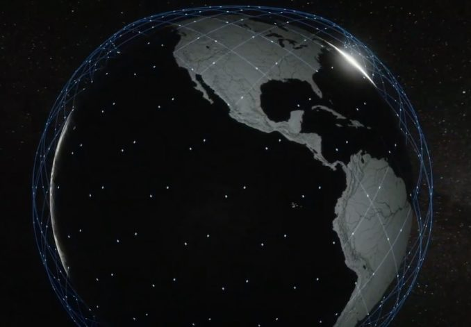 Artist's illustration of the distribution of satellites in SpaceX's Starlink network. Credit: SpaceX